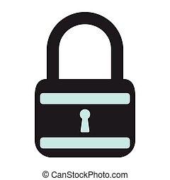 Lock icon. Flat Vector illustration on white background.