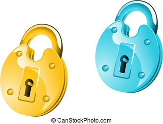 Lock icon - Glossy lock icon for web design or security...