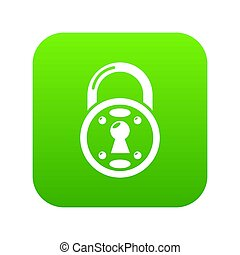 Lock icon green