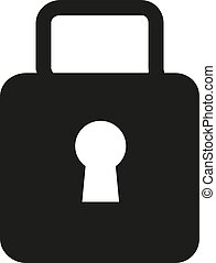 Lock Icon in trendy flat style isolated on grey background. Security symbol for your web site design, logo, app, UI. Vector illustration