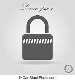 Lock Icon in trendy flat style isolated on grey background. Security symbol for your web site design, logo, app, UI. Vector illustration, EPS10.
