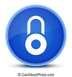 Lock icon isolated on special blue round button abstract