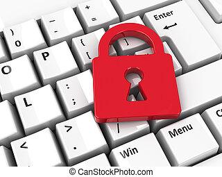 Lock icon on keyboard
