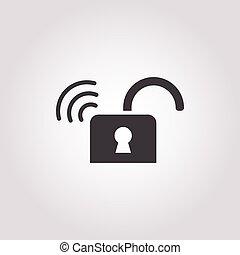 lock icon on white background
