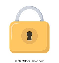 Lock icon, padlock illustration. Privacy and password icon. Safety and security protection