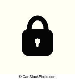 Lock icon. Padlock sign. Unlock. Vector illustration. Flat design.