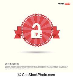 lock icon - Red Ribbon banner