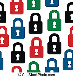 Lock icon seamless pattern