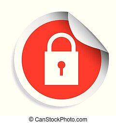 Lock icon security symbol vector
