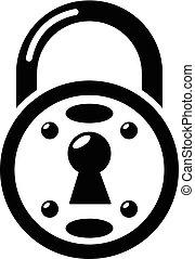 Lock icon, simple black style