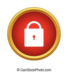 Lock icon, simple style