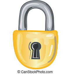 Lock icon - Stylized lock icon or symbol.