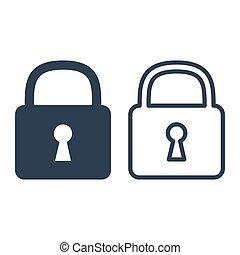 Lock icons on white background.