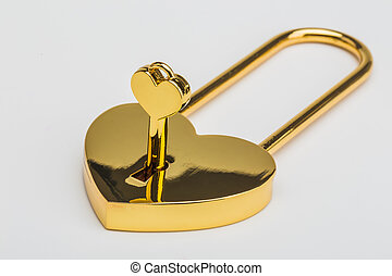 Lock in the form of a heart
