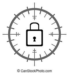 Lock Inside Target Sign