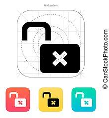 Lock is open icon. - Lock is icon. Vector illustration.