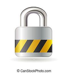 Lock isolated on white background