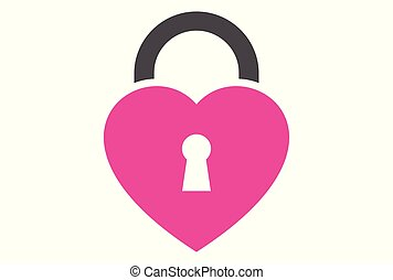 lock love logo vector