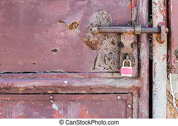 Lock on a Metal Door