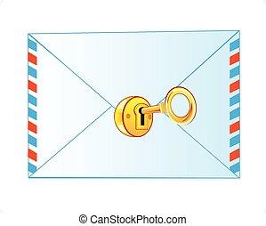 lock on envelope