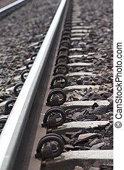 Lock on Rail Track  - close up to Lock on Rail Track