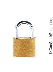 Lock over white