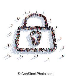 lock people 3D rendering