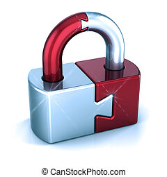 Lock puzzle padlock closed security protection concept