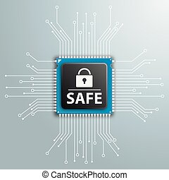 Lock Safe Circuit Board Infographic - Processor with D-Lock...