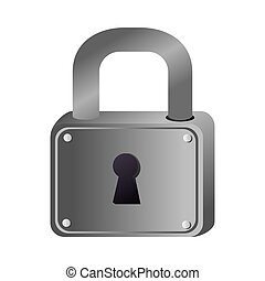 lock security hole vector graphic icon