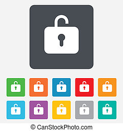 Lock sign icon. Login symbol.