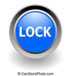 lock steel glosssy icon