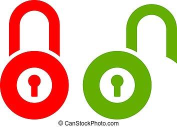 Lock unlock vector icon