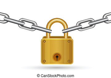 lock with chain