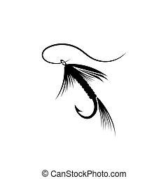 locka, fiske flyg