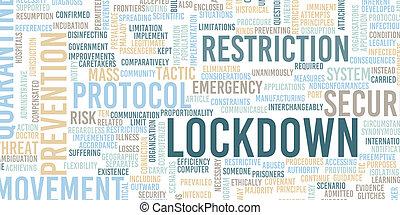 Lockdown Emergency Protocol Preventive Action Health Crisis Concept