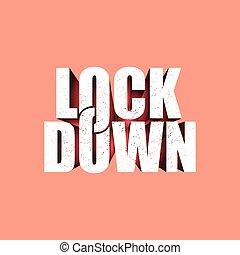 Lockdown logo design vector. icon lockdown