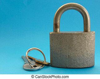 locked #2 - locked padlock with keys