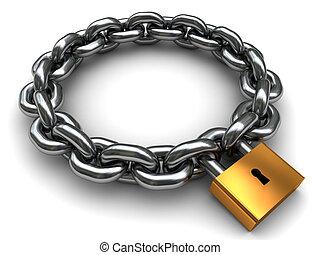 locked chain