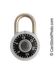 Locked combination padlock - A locked combination padlock ...