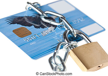 locked credit card - photo shot of locked credit card
