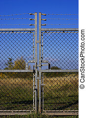 Locked gates - Closed and locked gates