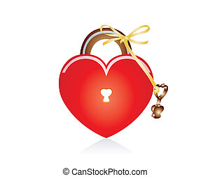 locked Heart - Present to lovely person a key from your...
