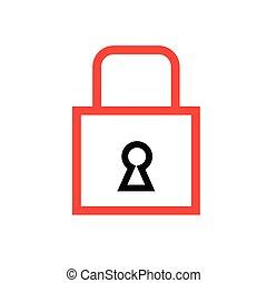 Locked icon illustration