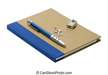 Locked Journal - Isolated Journal With a Lock and Key