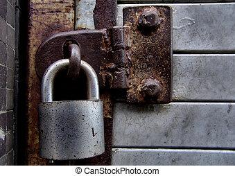 Locked - Lock on door