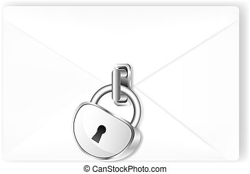 Locked mail with lock.