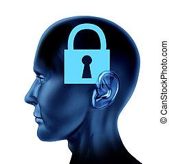 Locked Mind - Lock closed locked secrets mystery symbol as a...