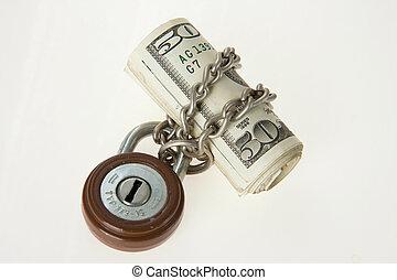 locked money
