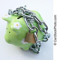 Locked piggy bank 2